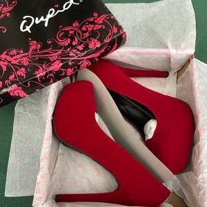 Qupid Marquise Almond Toe Platform High Heels